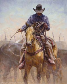 Springtime Snare by Shawn Cameron Oil ~ 20 x 16 Cowboy Horse, Cowboy Art, Cowboy And Cowgirl, Cowboy Pictures, Rodeo Life, Southwestern Art, Ap Studio Art, Real Cowboys, West Art