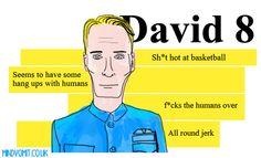 David 8 from Prometheus. By me. http://mindvomit.co.uk
