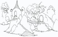 Forest Image Coloring Page : Coloring Sky Forest Coloring Pages, Coloring Pages For Kids, Coloring Books, Forest Background, Online Coloring, Tree Forest, Colorful Pictures, Colour Images, Some Fun