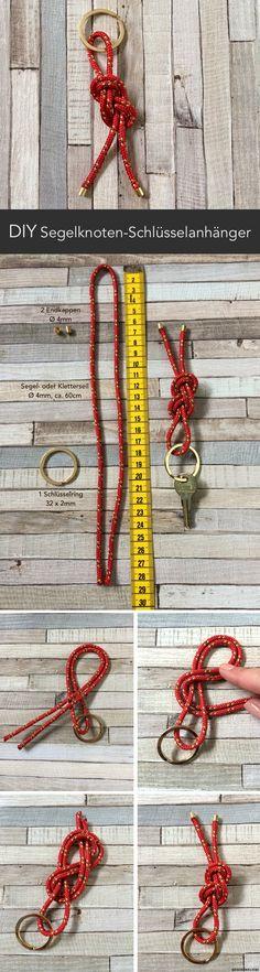 DIY Männergeschenk: Schlüsselanhänger mit Segelknoten