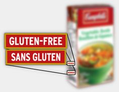 Look for the Gluten-Free symbol on our Campbell products when you go grocery shopping.