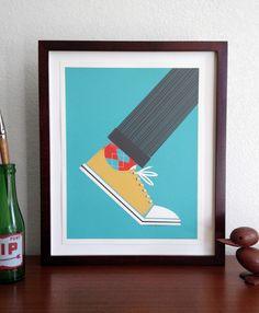Brent Couchman Design & Illustration - Shop - Argyle Sock - $ 30