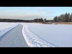 Långfärdsskridskobanan på Lappträskets is 2016 - Retkiluistelurata Lapinjärven jäällä 2016 - YouTube