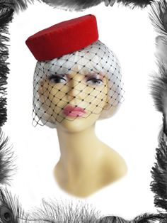 red velvet pill box hat, burlesque, vintage style. £40.99 http://www.emeraldangel.co.uk/ea600.html