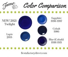 Fiesta Ware Colors, Homer Laughlin, Sales And Marketing, Vintage Love, Shades Of Blue, All The Colors, Cobalt, Twilight, Are You Happy