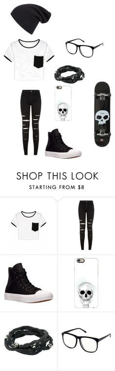 """""""Untitled #110"""" by darksoul7 on Polyvore featuring New Look, Converse, Casetify, King Baby Studio and H&M"""