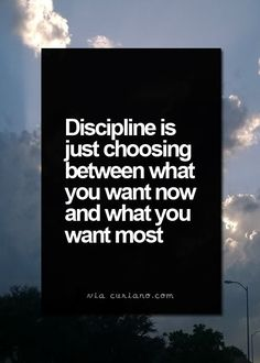 self discipline is a