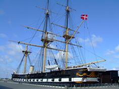 Fregatten Jylland, Ebeltoft, Denmark Denmark Europe, Visit Denmark, The Places Youll Go, Places To Visit, Old Boats, Faroe Islands, Model Ships, Sailing Ships, Norway