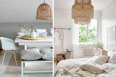 Udekoruj lampami wiklinowymi i bambusowymi