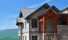 Chalakee at Echota: Timberframe Exterior Accents, Stacked Stone and Mountain Architecture