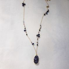 Amethyst And Lolite Necklace by Prismera Design - two of my favourite stones!