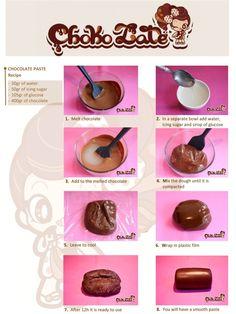 Make your own Chokolate paste for cake decorating    http://www.facebook.com/ChokolateFancyCakes