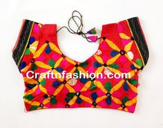 Fashion wear Ready Made blouse- Multicolored Kutch Embroidery Work Blouse