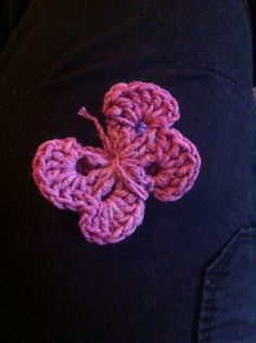 Butterfly crochet follow the link for pattern   https://www.pinterest.com/pin/464996730256138910/