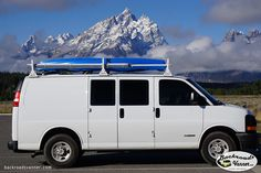 It used to be his work van, but he and his partner turned it into a rig for exploring the backroads and national parks.