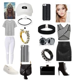 """""""#striped #strip-strip"""" by mozaras-parulian ❤ liked on Polyvore featuring IRO, Maybelline, Vans, Chloé, MICHAEL Michael Kors, Kenneth Jay Lane, Savannah Hayes, ASOS and stripedshirt"""