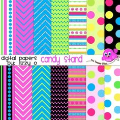 Bright digital papers to show off all of your products and designs!                                  *14 digital paper .jpeg files * 5 bonus paper .jpeg files *High quality 300 dpi *For personal and commercial use