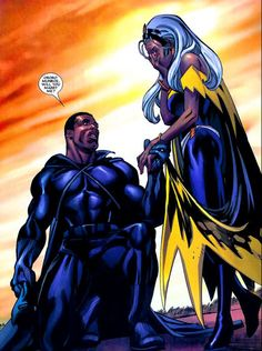 superheroesincolor:Power Couples: Black Panther and Storm // Marvel Comics