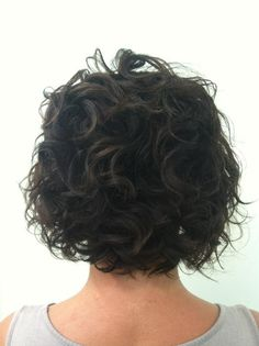 Autumn's short curly bob before extensions by Meg Abbott @ Bella Rouge Salon in Lincolnton, NC