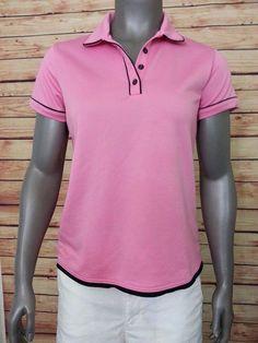 Tehama Women's athletic polo shirt moisture wicking uv protection dry size M #TEHMA #ShirtsTops