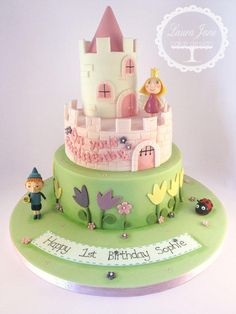 Birthday/Christening Cake girly version of the castle! :)