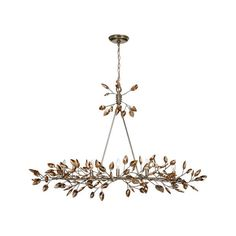 Zeev Lighting Misthaven Silver Leaf ($746) ❤ liked on Polyvore featuring home, lighting, ceiling lights, chain chandelier, semi flush mount chandelier, hanging chain lamps, semi flush chandelier and ice light
