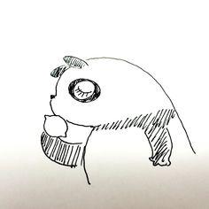 【一日一大熊猫】2016.3.24 31歳で亡くなった作家、梶井基次郎の命日。 #パンダ #梶井基次郎 #檸檬