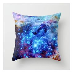 Galaxy Throw Pillow ($20) ❤ liked on Polyvore featuring home, home decor, throw pillows, pillow et abstract throw pillows