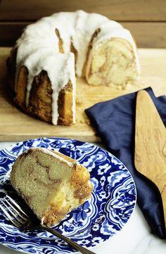 Grandbaby Cakes' Cinnamon Roll Poundcake