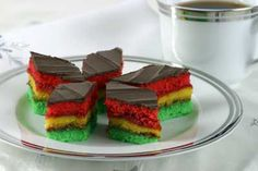Rainbow cookies- Odense recipe- much smaller batch (8X8 pans) than Torrisi or Eve's. Makes 36
