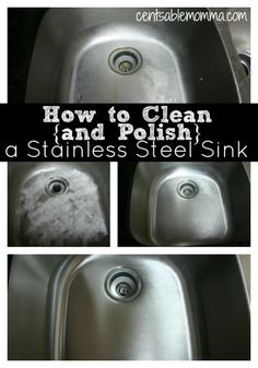 Does it seem like your kitchen sink is always dirty? Check out these tricks for how to clean and polish a stainless steel sink making it shiny again using natural ingredients that you already have around the house.