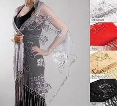 Bridal Bridesmaids Embellished Shawls Wraps