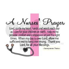 Nurses Prayer- Rectangle Magnet on CafePress.com