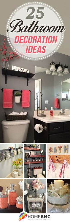 Ideas for Bathroom Decorating- #'s 8, 12, 13, 21, & 24