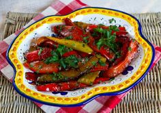 Amazing Italian Food: Fried Sweet Peppers With Balsamic Vinegar
