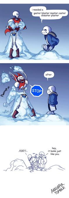 """anadapta: """"It should be 'gaster blaster master caster band-aid', but that wouldn't rhyme now would it. (One-page version.) """""""