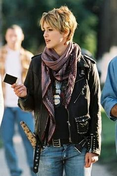 """To all the fashionable ladies, embrace the rocking looking leather jacket, worn by Keira Knightley, in the action movie of 2005, """"Domino"""" http://www.arcfashions.com/products/Domino-Keira-Knightley%27s-Leather-Jacket.html"""