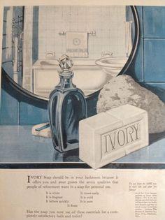 Kittyinva@Tumblr: 1920 Ivory soap ad.