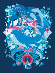 Type from Skizze Art Water Type Pokemon by Jody Perkins/Dizzie Skizze on StorenvyWater Type Pokemon by Jody Perkins/Dizzie Skizze on Storenvy Pokemon Yveltal, Pokemon Agua, Water Type Pokemon, Pokemon Cards, Pokemon Images, Pokemon Pictures, Pokemon Fan Art, Coaches, Sketches