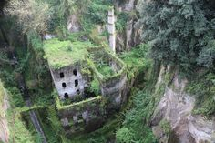 Heading to the Almafi coast be sure to take the time to visit this flour mill overrun by overgrowth.
