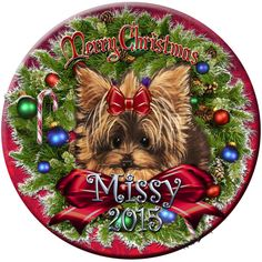 Yorkie ornament from Ladyjanesposinparlor  https://www.etsy.com/listing/252589778/yorkie-yorkshire-terrier-puppy