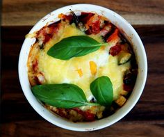 Melted Cheese on  Baked Italian Eggs Voome Recipe