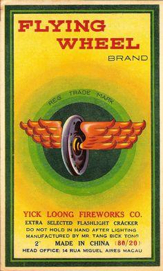 FLYING WHEEL brand CL4 Firecracker Brick Label