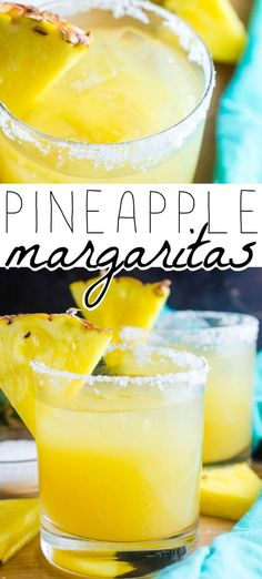 PINEAPPLE MARGARITA - A Pineapple Margarita just screams tropical vacation and you'll be transported to your happy place when you make our super easy and super delicious recipe!