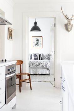 Annabelle Kerslake's bedroom. #sneakpeek #blackandwhite