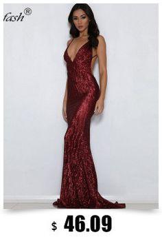 6d8b47394111 R$ 226.24 |POFASH 2018 Sexy Alta Dividir Strapless Maxi Vestido de Festa  Moda Feminina Vestido Longo Verão Elegante Backless Lantejoula Vestidos  Vestidos em ...