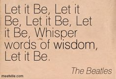 #Let it be