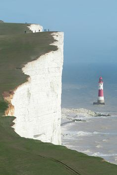 White Cliffs of Dover; English coastline facing the Strait of Dover and France
