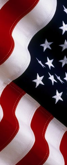 American Flag (USA) - made of natural cotton - Long, Tall, Vertical Pins.