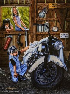 Unbelievable Cool Tips: Harley Davidson Fat Bob 2018 harley davidson outfits biker chic.Harley Davidson Scrambler Posts harley davidson preto e branco. Motos Harley Davidson, Classic Harley Davidson, Harley Davidson Street, Motorcycle Art, Bike Art, Motorcycle Memes, Cruiser Motorcycle, Hd Fatboy, David Mann Art